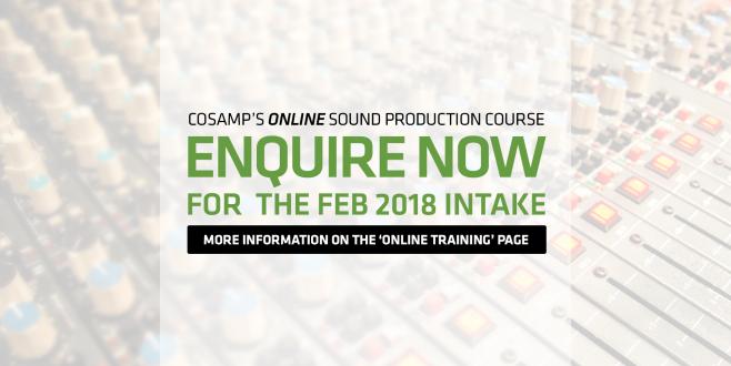 Enquire now about COSAMP's Online Cert IV Sound Production Course